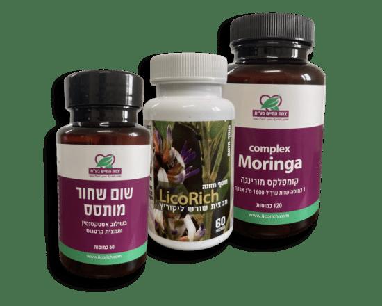 צמח החיים - המשווקת הלבעדית של ליקוריץ המקורי -שום שחור מותסס בנוסחה החדשה וכמוסות מורינגה אורגניות